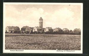 AK Hohen-Neuendorf, Siedlung mit Wasserturm