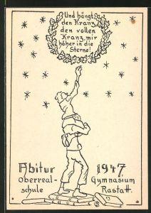 AK Rastatt, Absolvia Abitur 1947 der Oberrealschule