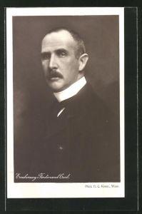 AK Erzherzog Ferdinand Carl von Österreich im Anzug