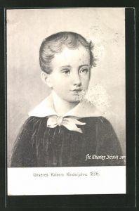 Künstler-AK Kaiser Franz Josef I. von Österreich, Portrait von 1836