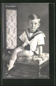 AK Prinz Lennart von Schweden als Knabe in Matrosenkostüm