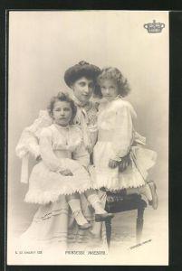 AK Prinzessin Ingeborg mit ihren Töchtern