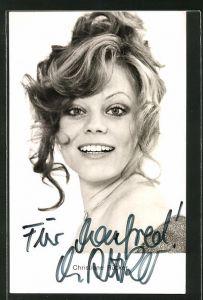 AK Schauspielerin Christine Rücker im Portrait mit Autogram
