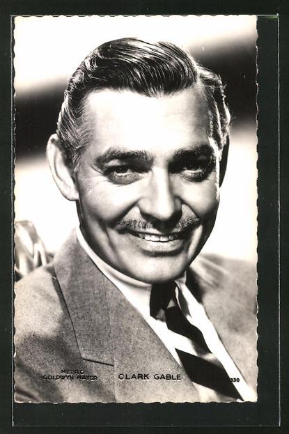 AK Schauspieler Clark Gable lächelt in die Kamera