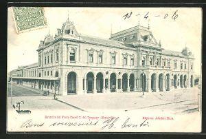AK Montevideo, Estacion del Ferro Carril C. del Uruguay-Montevideo, Bahnhof