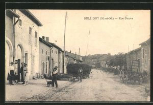 AK Bulligny, Rue Neuve, Strassenpartie