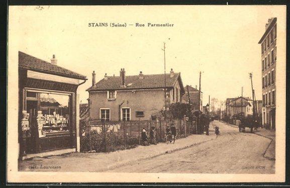 AK Stains, Rue Parmentier, Strassenpartie