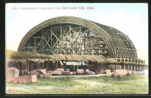 AK Salt Lake City, UT, Construction of Tabernacle Roof