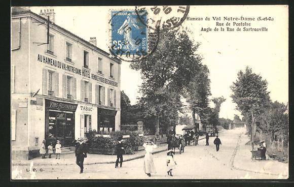 AK Argenteuil, Rue de Pontoise Angel de la Rue Sartrouville