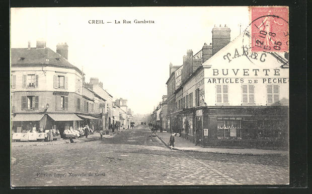 AK Creil, La Rue Gambetta