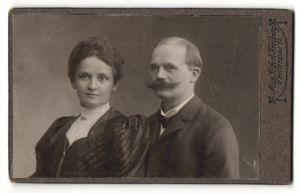 Fotografie Max Seifert, Freiberg, Portrait bürgerliches Paar