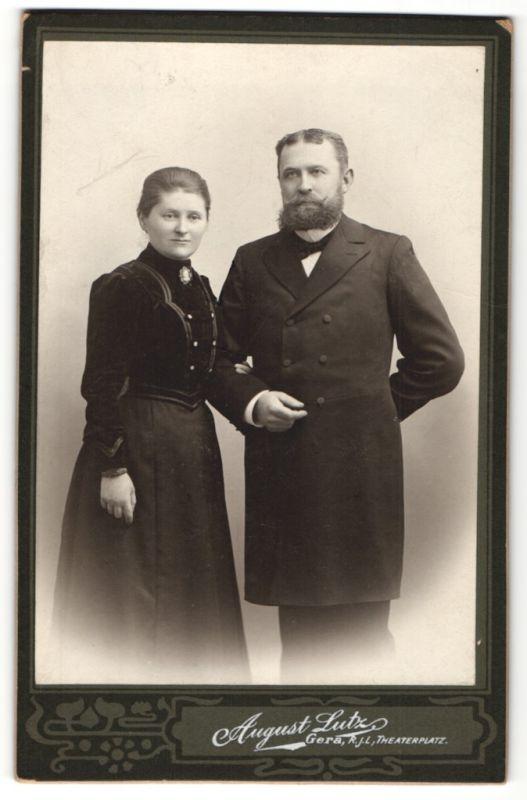 Fotografie August Lutz, Gera, Portrait bürgerliches Paar