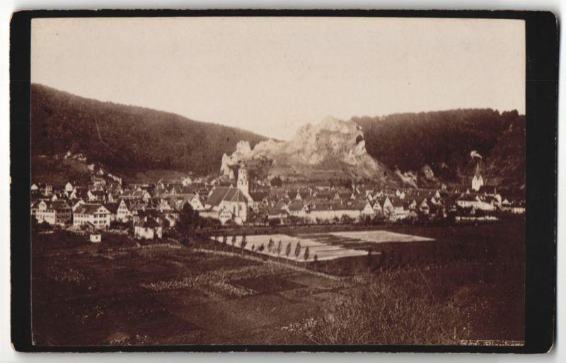 Fotografie Fotograf unbekannt, Ansicht Blaubeuren, Panorama der Ortschaft