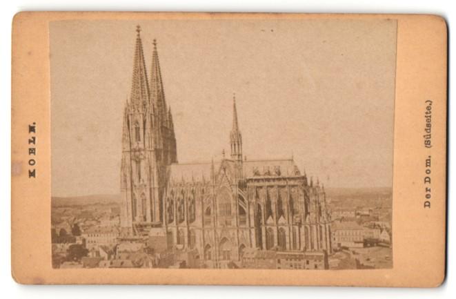Fotografie Fotograf unbekannt, Ansicht Köln, Kölner Dom Gesamtansicht