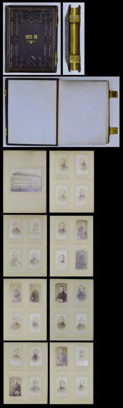 Fotoalbum 57 Fotografien 1872-75 Berlin, Preussische Kriegsakademie, Offiziere, Orden, Uniformen