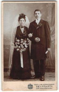 Fotografie Seyffarth, Crimmitschau, Portrait Braut und Bräutigam, Hochzeit