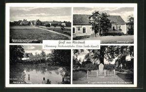 AK Möritzsch, Ansicht vom Gasthaus, Blick von der Reichsautobahn auf das Dorf
