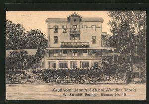 AK Wandlitz / Mark, Partie mit Villa am Liepnitz See