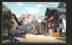 AK Landro, Höhlenstein mit Piz Popena & Monte Cristallo