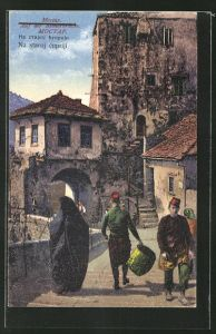 AK Mostar, Auf der Römerbrücke