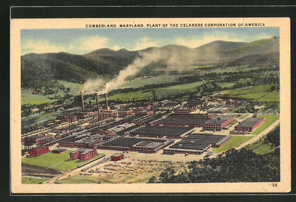 AK Cumberland, MD, Plant of the Celanese Corporation of America