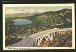 AK Near Reno, NV, Donner Memorial Bridge and Donner Lake