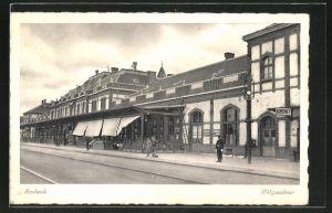 AK Szolnok, Pályaudvar, Ansicht vom Bahnhof