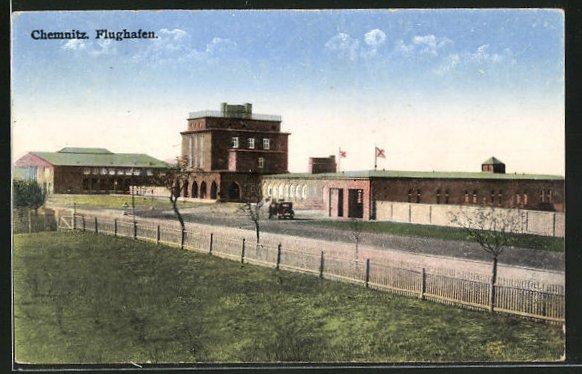 AK Chemnitz, Ansicht vom Flughafen