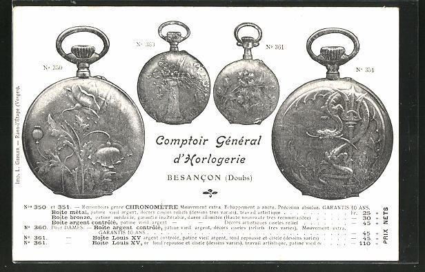 AK Besancon, Taschenuhren, Rückseitig Hermitage de Consolation