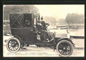 AK Paris Nouveau, Les femmes Chauffeur, Mme. Decourcelle, Emanzipation