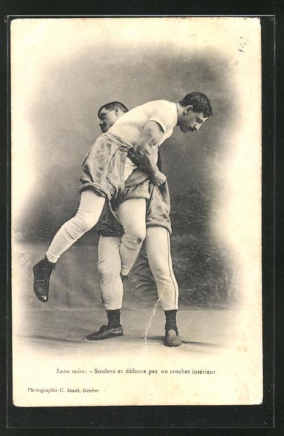 AK Zwei Ringer kämpfen miteinander