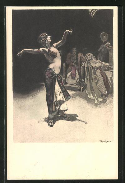 Künstler-AK Ferdinand von Reznicek: Simplicissimus Serie V. No. 7: orientalische Tänzerin