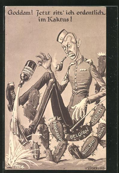 Künstler-AK Friedrich Kaskeline: Propaganda 1. Weltkrieg,