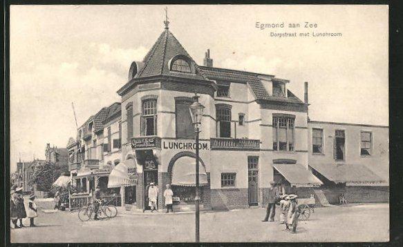AK Egmond aan Zee, Dorpstraat met Lunchroom