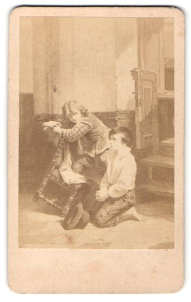 Fotografie Gemälde von unbek. Künstler, In der Kirche