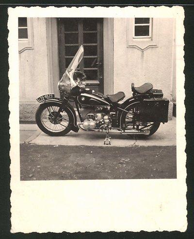 Fotografie Motorrad BMW, Krad mit Boxer-Motor & Windchutzscheibe, Krad-Kennzeichen: FB-73-0571