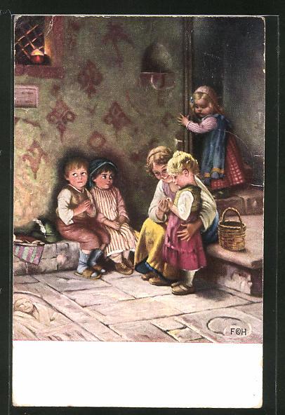 Künstler-AK Hermann Kaulbach: Vater unser
