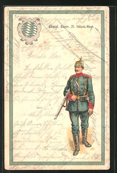 AK Königl. Bayer. 21. Infant.-Regiment