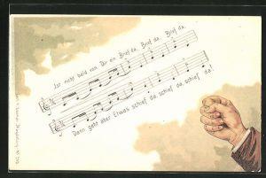 AK Lied: Ist nicht bald von Dir ein Brief da, Schreibfaul