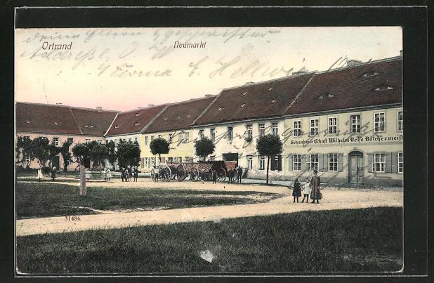 AK Ortrand, Gasthaus Schankwirtschaft Wilhelm Velse am Neumarkt 0