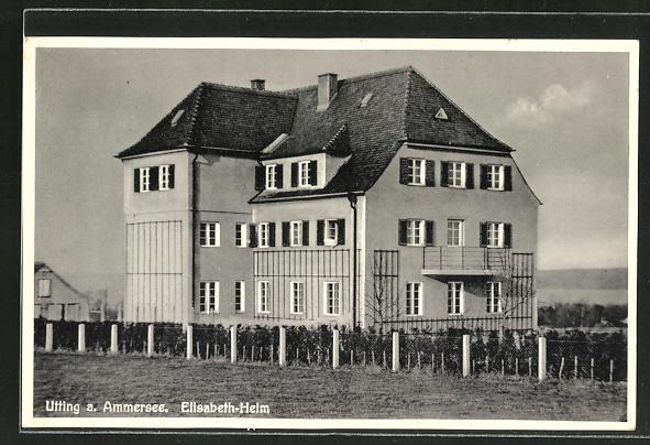 AK Utting a. Ammersee, Blick zum Elisabeth-Heim 0