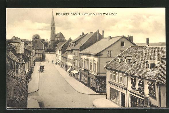 AK Heiligenstadt, Blick in die untere Wilhelmstrasse