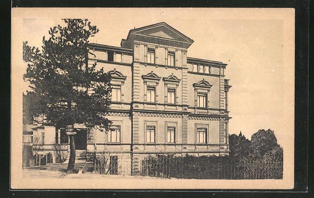AK Bad Friedrichroda, Blick zum Hotel Reinhardsberg