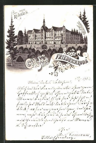 Lithographie Friedrichroda, Hotel Kurhaus 0