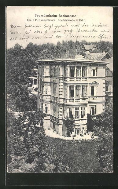 AK Friedrichroda / Thür., Hotel-Fremdenheim Barbarossa 0