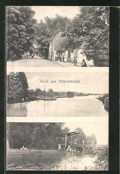 AK Prierosbrück, Ortsansicht, Seeblick 0