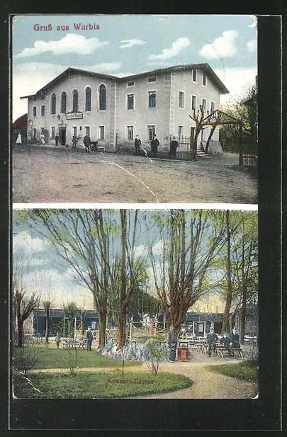 AK Wurbis, Gasthaus, Gastgarten 0