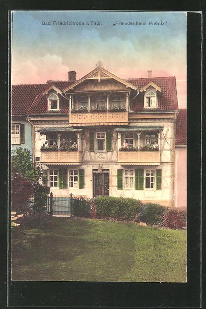 AK Bad Friedrichroda / Thür., Hotel-Fremdenheim Phönix, Tabarzer Str. 3