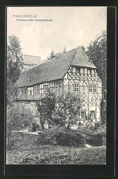 AK Paulinzelle, Gasthaus Menger ehemals altes Klostergebäude