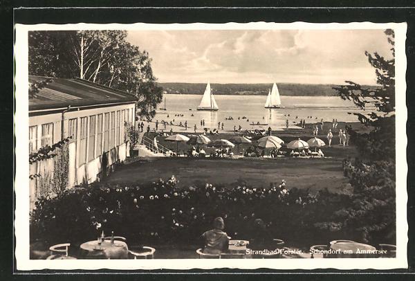AK Schondorf a. Ammersee, Sommerleben im Strandbad Forster